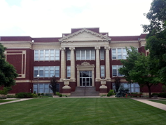 Tabor College, Hillsboro, Kansas, administration building, built in 1920. The AGM was held in the library & archives building nearby.